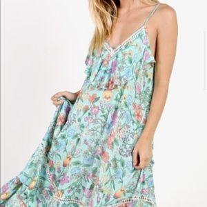 Spell SAYULITA FRILL MAXI DRESS NWT size XS